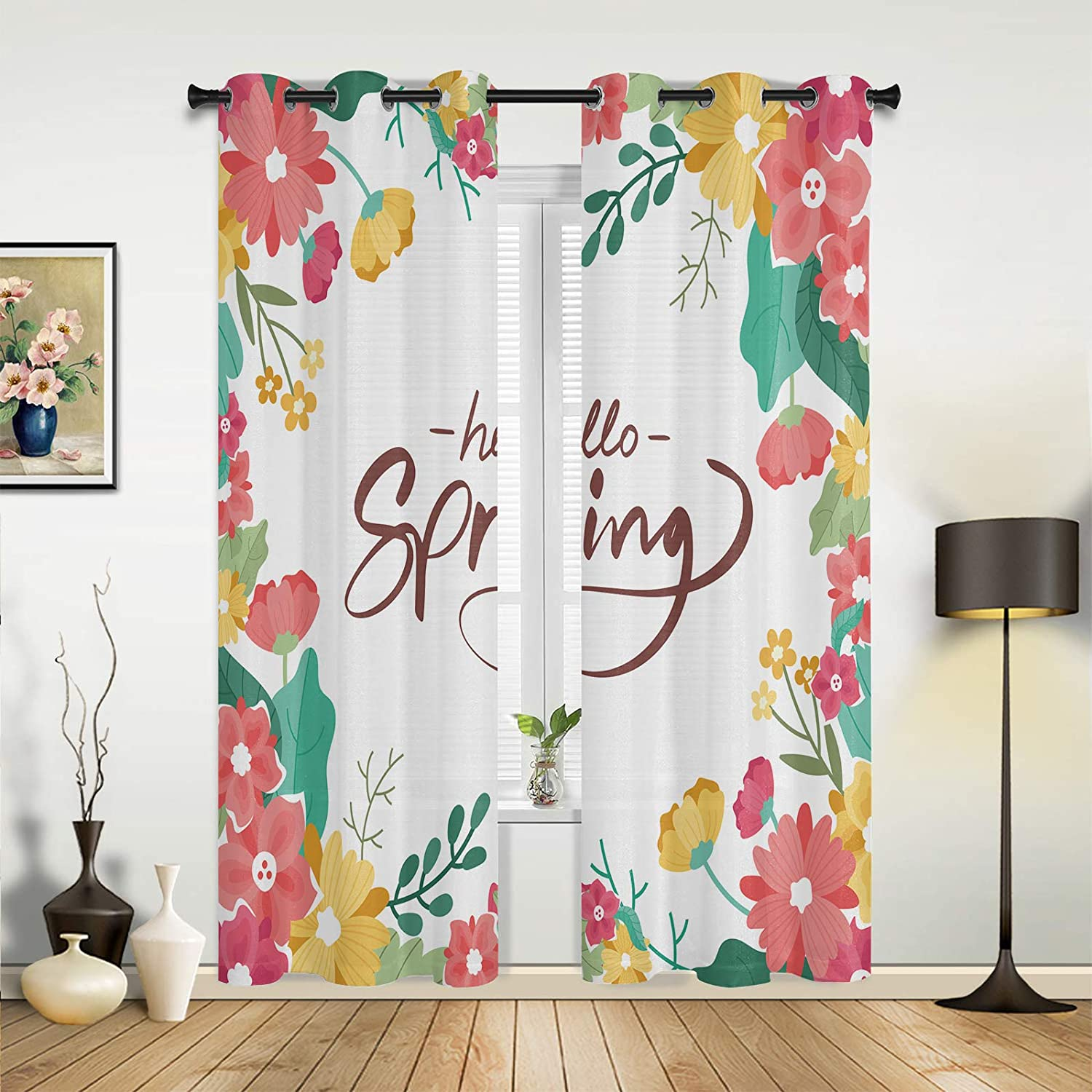 Window All items free shipping Sheer Price reduction Curtains for Bedroom Gorge Room Hello Living Spring