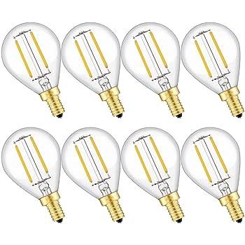 Vintage Edison Tiny G14 LED Globular Bulb CRLight 4W Dimmable Candelabra LED Globe Bulb 45W Equivalent 450LM 8 Pack Chandelier Ceiling Fan Vanity Mirror Light Bulbs Soft White 3000K E12 Base