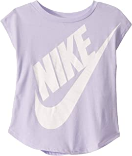 Nike Kids Baby Girl's Logo Graphic Short Sleeve T-Shirt (Toddler) Lavender Mist 2T Toddler