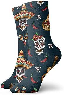 ames, Calcetines Unisex Calcetines Mexicanos Calaveras de Azúcar Calcetines Deportivos Secos Novedad Moda