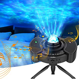 Corlitec Galaxy Light Projector for Bedroom,Sky Lite with Music Speaker for Kids & Adults, UFO Star Projector with Voice Control for Bedroom, Home, and Party, Helps with Sleep