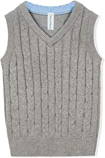 Benito & Benita Boys' Sweater Vest School V-Neck Uniforms Cotton Cable Knit Pullover Sweaters for Boys/Girls 3-12Y