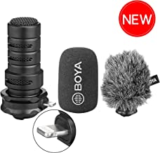 iPhone Directional Microphone Lightning, BOYA Digital Cardioid Stereo X/Y MFI Lightning Mic with Superb Sound for iPhone 11 x 8 7 7plus iPad iPod Touch iOS Recording YouTube Video Vblog Livestream