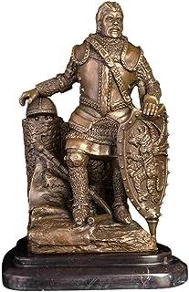 DQQQ Estatua Estatuas Esculturas de estatuillas Soldado de Bronce Antiguo Figura Estatua Guerrero de Bronce Gente Escultura para escaparate Estantería Clásica Decoración del hogar