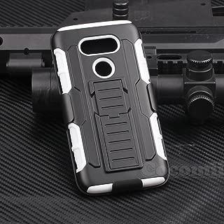Cocomii Robot Armor LG G5 Case New [Heavy Duty] Premium Belt Clip Holster Kickstand Shockproof Hard Bumper Shell [Military Defender] Full Body Dual Layer Rugged Cover for LG G5 (R.White)