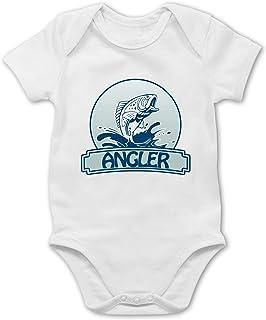 Shirtracer - Sport Baby - Angler Button - Baby Body Kurzarm für Jungen und Mädchen