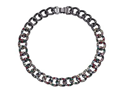 J.Crew Glitz Pave Chain Necklace (Multicolor) Necklace