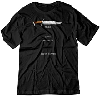 BSW Men's Rambo - MACGYVER - Chuck Norris Face Off Cool Shirt