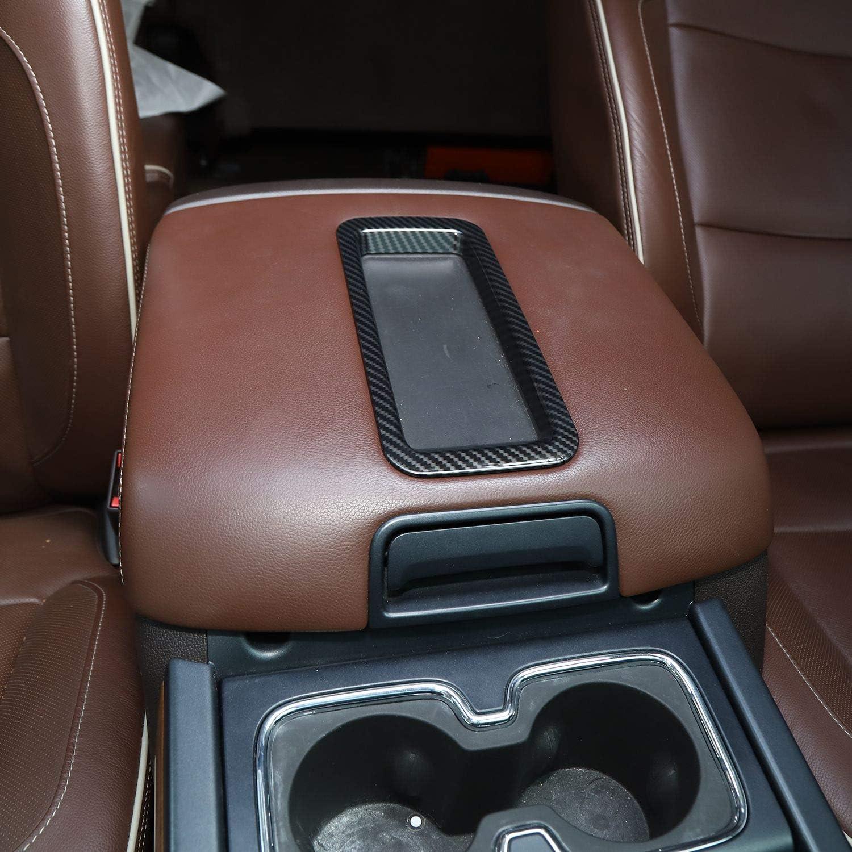 Voodonala for 2014-2018 Chevy Silverado GMC Sierra Armrest Box Storage Box Decorative Trim ABS Red 1pc