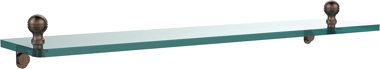 Allied Brass MA-1 22-VB 22 by 5-Inch Single Glass Shelf