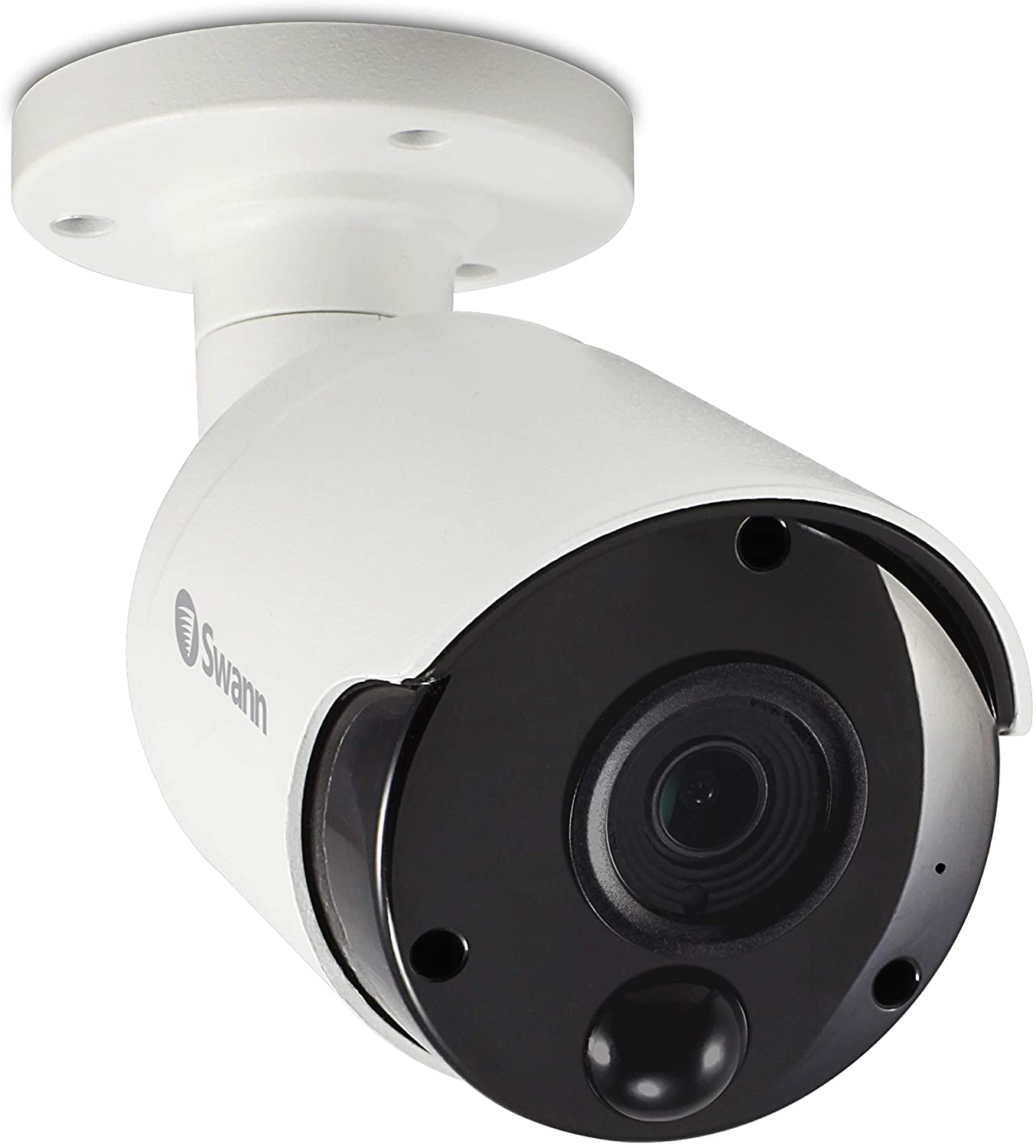 Swann Wired PIR Bullet Security Camera, 4K Ultra HD Surveillance Cam with Color Night Vision, Indoor/Outdoor, Thermal, Heat & Motion Sensing, Audio Monitoring, Add to NVR with PoE, SWNHD-887MSB
