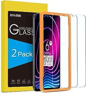 SPARIN [2-Pack Cristal Templado OnePlus 6T/OnePlus 7, Protector Pantalla OnePlus 6T/OnePlus 7, Vidrio Templado con [2.5d Borde Redondo] [9H Dureza] [Alta Definicion]