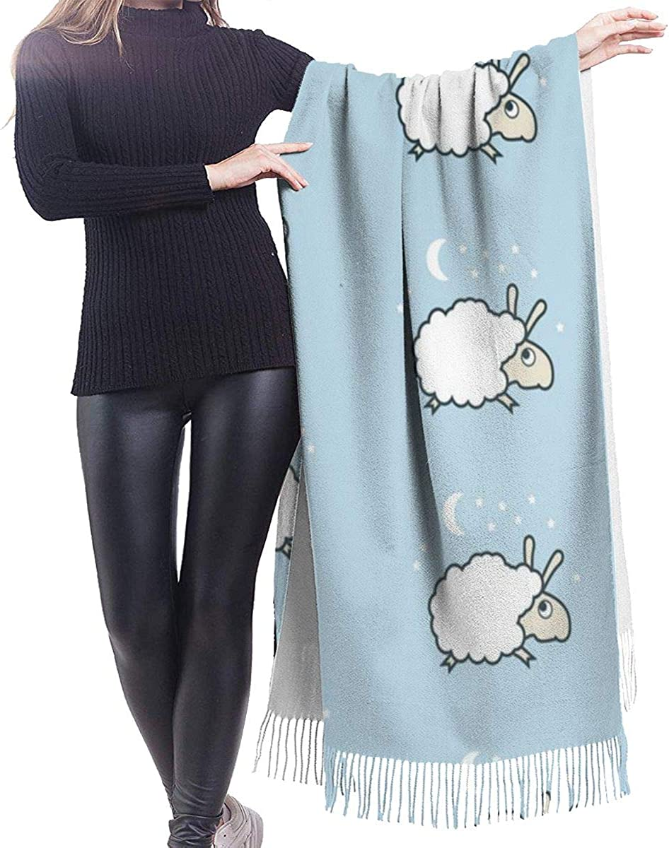 Cute Sheep Cashmere Shawl Wrap Scarf Large Warm Scarf For Women