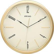 ساعة حائط بعقارب من سيكو، QXA725G - بيج واسود