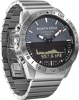 Yorten Men Sports Digital Analog Watch Diving Watch Full Steel Business Wrist Watch Altimeter Compass 200m Waterproof