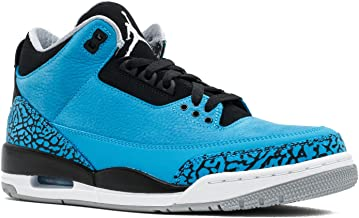 Jordan Air 3 Retro Men's Basketball Shoes Dark Powder Blue/White-Black-Wolf Grey 136064-406