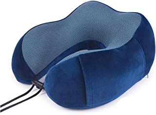 Travel Neck Pillow, Memory Foam Pillow U-Shaped Adjustable 360° Head & Neck Support Travel Pillow for Sleeping on Car and ...