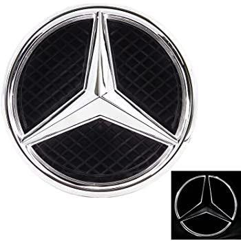Motorfox Led Eemblem luce bianca auto stella logo distintivo griglia anteriore 2011-2018 nero lucido