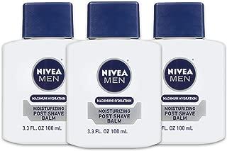 NIVEA Men Maximum Hydration Moisturizing Post Shave Balm - No Greasy Feel - 3.3 fl. oz Bottle (Pack of 3)