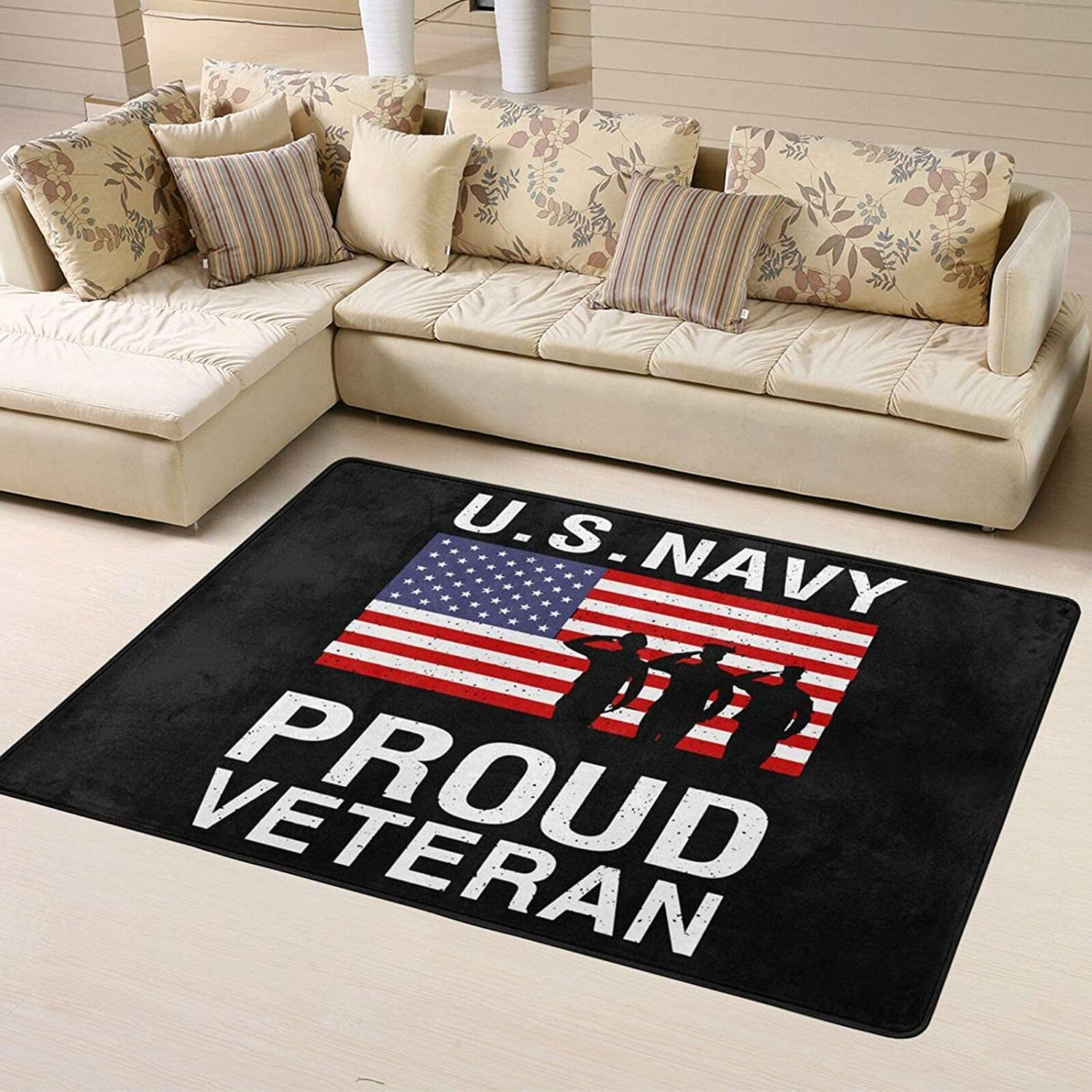 Us Navy Proud Veteran Super Ranking TOP16 Decorati Rugs Same day shipping Personalized Home Soft