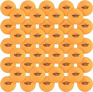 Click N' Play Ping Pong Balls 3-Star Premium Advanced Training Tournament Grade Table Tennis Balls Orange (Pack of 50)