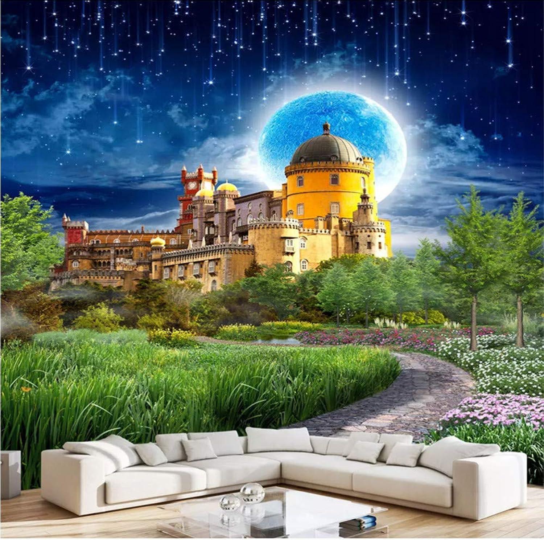 a la venta Hwhz Papel Tapiz Personalizado Foto Castillo De De De Fantasía Hermoso País De Las Maravillas Luz De La Luna Paisaje Papel Pintado Rollo Moderno-200X140Cm  venderse como panqueques