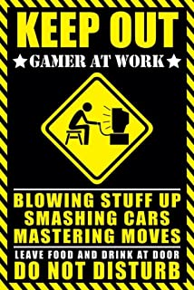 Best keep out gamer at work poster Reviews