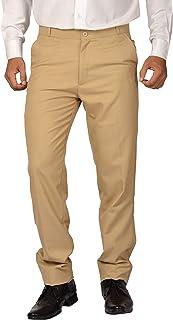 Maharaja Men's PolyViscose Formal Flat Front Slim Fit Office Wear Trouser [5 Varients]