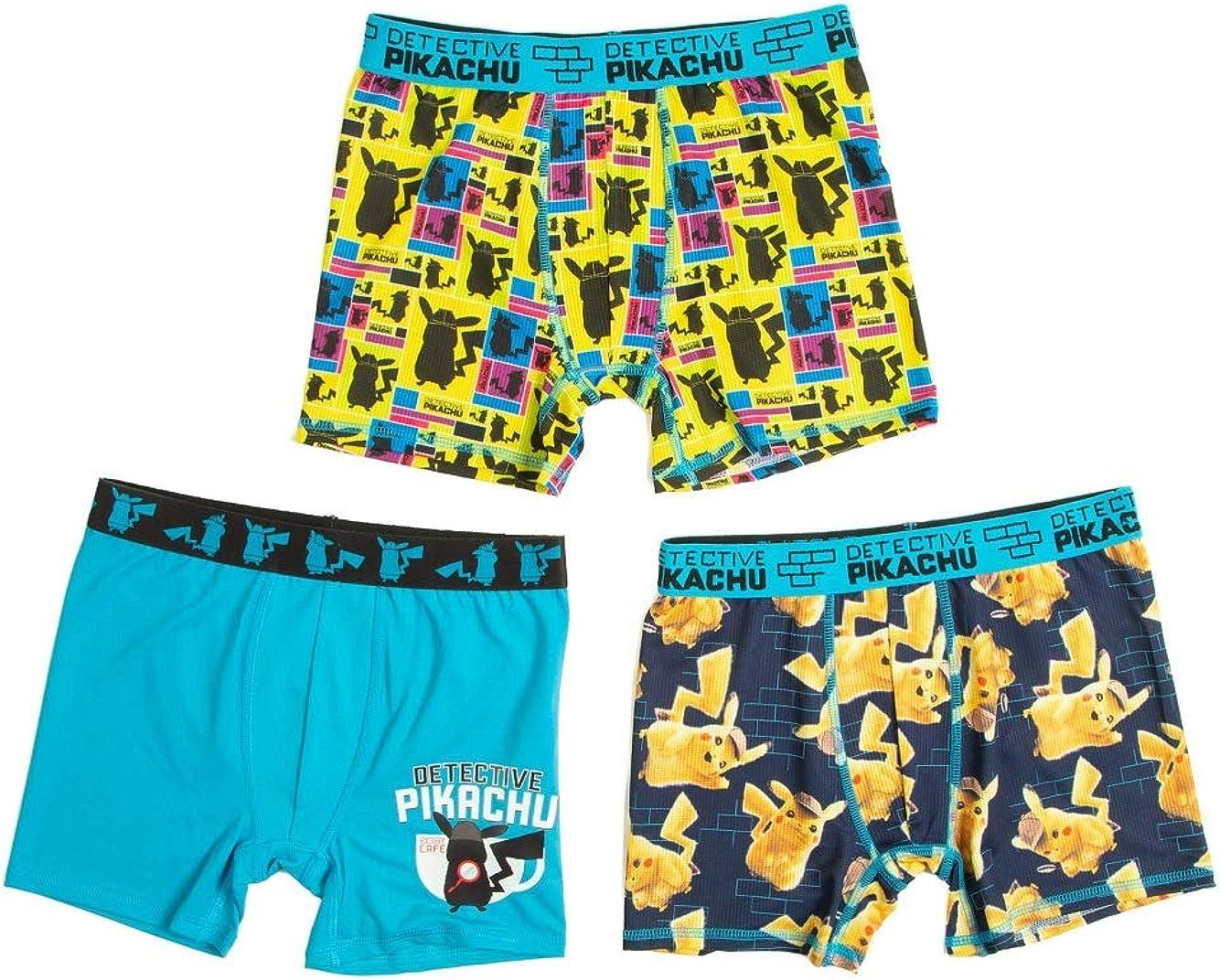 Underwear 3pk Boys Novelty Boxer Briefs Detective Pikachu