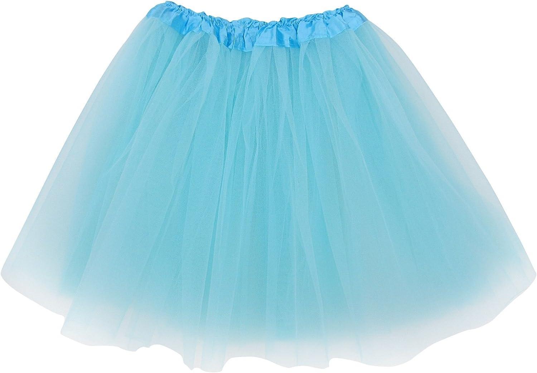 Women Adult Dancewear Tutu Mini Ballet Pettiskirt Princess Hallowen Party Skirt