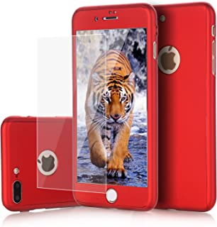 iPhone 8 Plus Case, 7 Plus Case, VPR 2 in 1 Ultra Thin Full Body Protection Hard Premium Luxury Cover [Slim] Shock Absorption PC case for Apple iPhone 8 Plus 2017/ iPhone 7 Plus 2016 (Red)