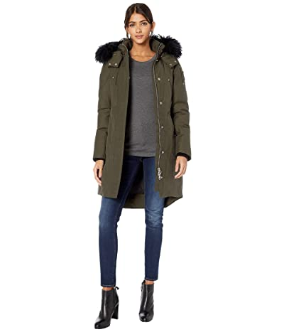 Moose Knuckles Shearling Stirling Parka (Army Green/Black Shearling) Women