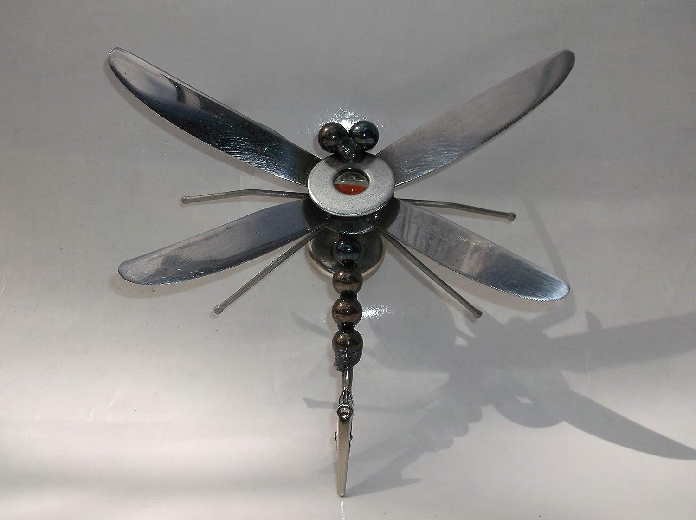 Orange Dragonfly Metal Magnet Sculpture Max 64% OFF Denver Mall