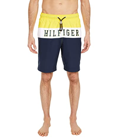 Tommy Hilfiger Adaptive Pieced Swim Trunks with Slide Loop Closure (Empire Yellow) Men