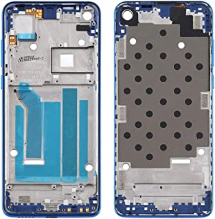 Mobile Phones Communication Accessories Front Housing LCD Frame Bezel Plate for Motorola Moto One Vision (Color : Blue)