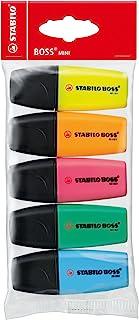 Surligneur - STABILO BOSS MINI - Pochette x 5 surligneurs - Coloris assortis