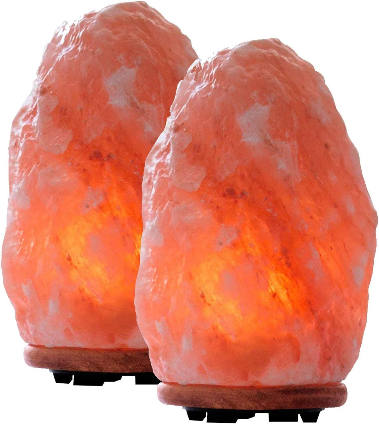 Himalayan Glow 1004B Extra Heavy Large Himalayan Salt Lamp, 15 to 20 lbs each