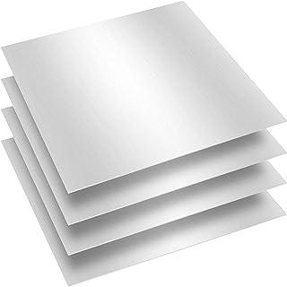FAATCOI Hoja de aluminio 6061 T6, 4 piezas de placa de aluminio lisa de 30,5 x 30,4 cm tratable con calor y resistente a l...