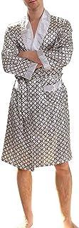 Men Black Lounge Sleepwear Faux Silk Nightwear For Men Comfort Silky Bathrobes Noble Dressing gown Men's Sleep Robes