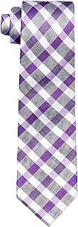 Calvin Klein Men's Silk Tie Purple Plaid Check