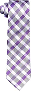 Calvin Klein Men's Silk Tie Purple Plaid Check