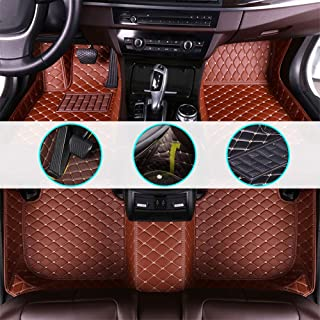 changlaiwang Car Floor Mats for Hyundai i30 2018-2019 Can be Customized for 99% of Cars Brown Full Set