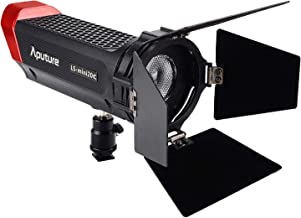Aputure LS-Mini 20c Chip-On-Board Light CRI TLCI 96+, Color Temperature 3200K-6500K, Adjustable Barn Doors, led Video Light with 1pc NP-F970 Battery Powerful Illumination