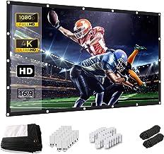 Projector Screen, Keenstone 120 Inch Projection Screen 4K 16:9 HD Foldable Wrinkle-Free..