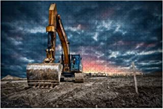 Jigsaw Puzzle 1000 Pieces Excavator machinery at construction site Adults Leisure Children Education Creative Art Toys Mea...