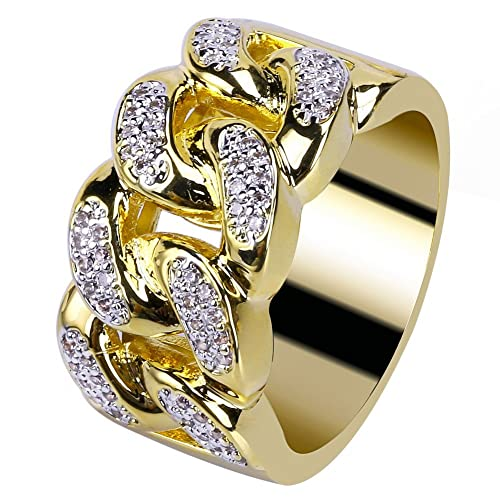 094f84ab60439 Iced Out Ring: Amazon.com