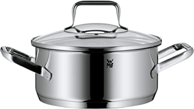 WMF Trend Low Casserole 20Cm With Lid, Stainless Steel, 1kg