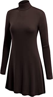 Come Together California Womens Long Sleeve Turtleneck Sweater Tunic with Various Hem