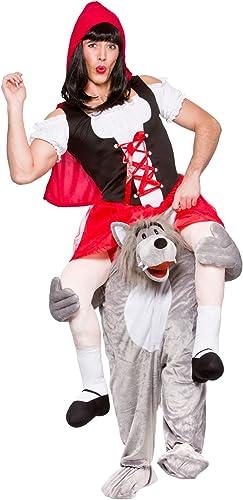 mejor calidad mejor precio Wicked - Disfraz de lobo y Caperucita Roja para para para adulto (Talla única)  al precio mas bajo