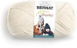 Bernat 16113030008 Big Ball Chunky Solid Yarn, 14oz, Super Bulky 6 Gauge, 100% Acrylic - Cream - Machine Wash & Dry
